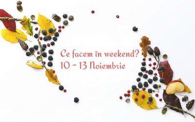 Ce facem în weekend? 10 – 13 noiembrie